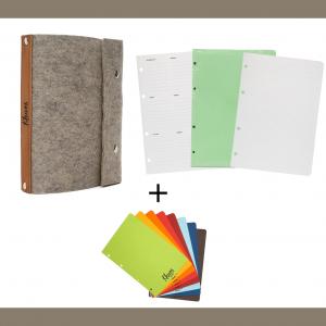 Фетровая обложка, три блока, разделители | Домашнее издательство Skrebeyko