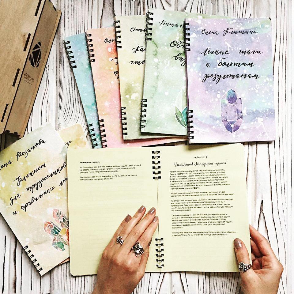 Как я заполняла блокнот Алены Одувашкиной | Домашнее издательство Skrebeyko