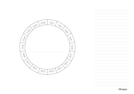 Круглый планер на день | Домашнее издательство Skrebeyko